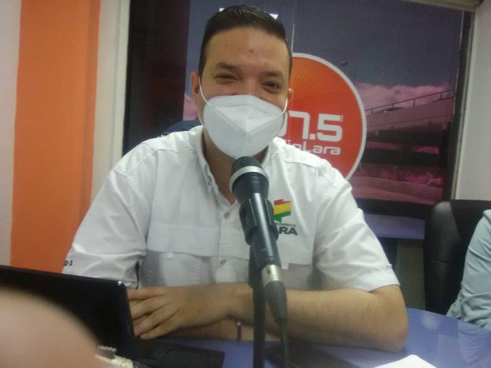 Director de Despacho de la Gobernación del estado Lara, Jorge Cordero Foto Prensa Gobernación Lara