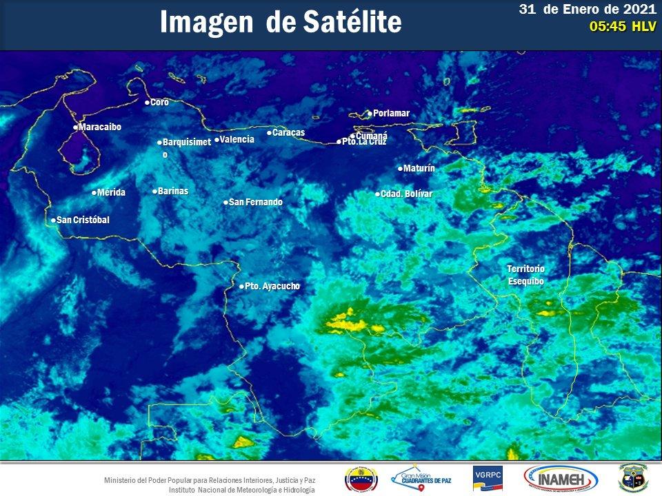 Inameh prevén nubosidad y lloviznas dispersas en algunos estados
