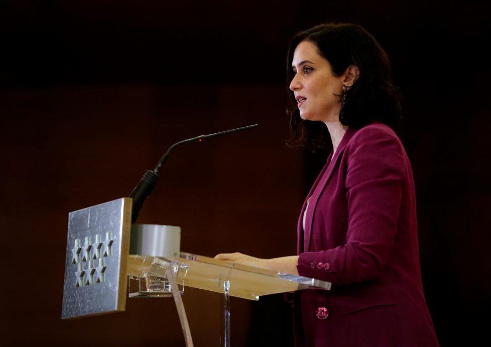 """España   Presidenta de Madrid convoca a elecciones anticipadas """"para frenar la moción de censura"""""""