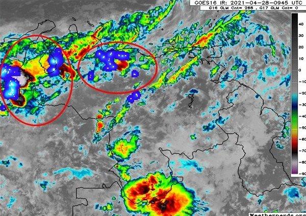 Inameh pronostica lluvias con nubosidad y descargas eléctricas