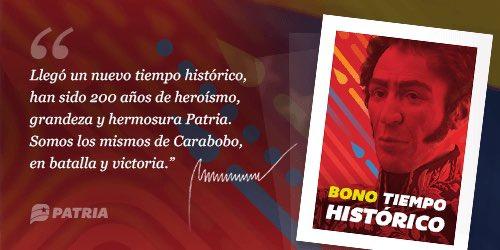 """Inició la entrega bono """"Tiempo Histórico"""" a través de la plataforma Patria"""