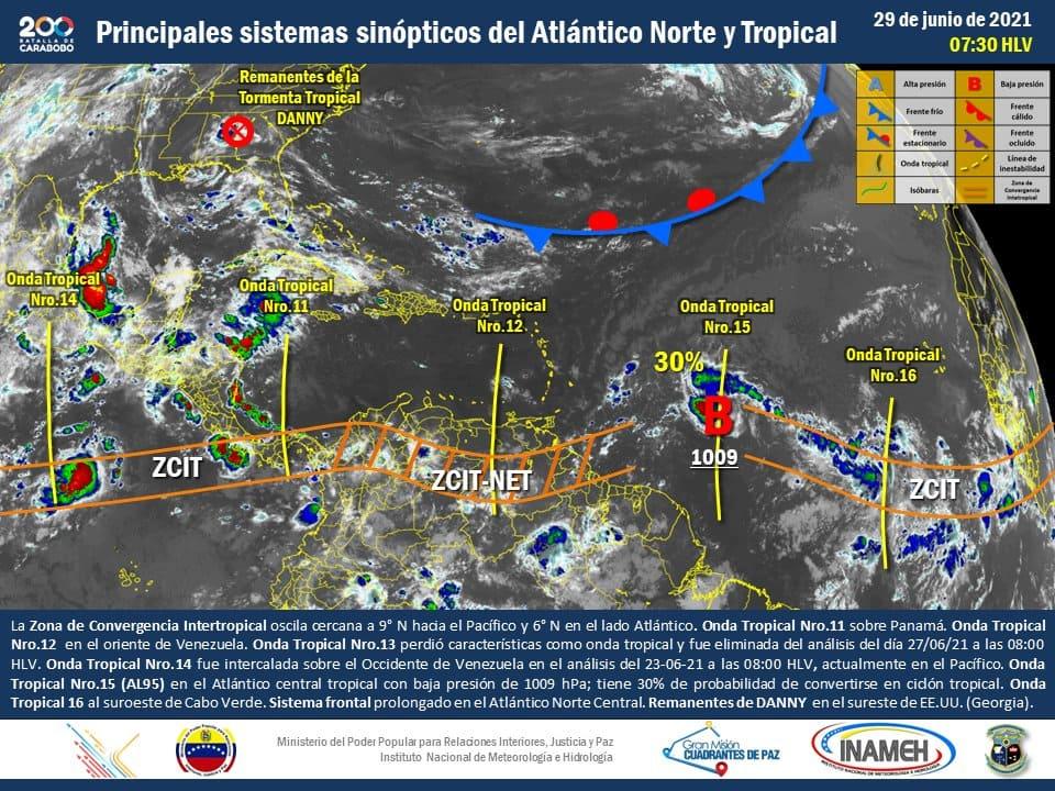 Inameh: se desplaza la onda tropical número 12