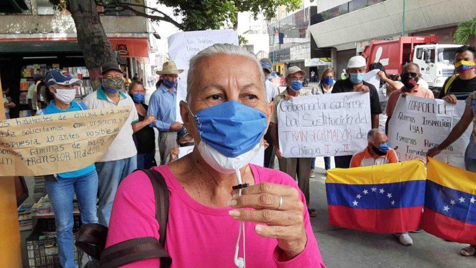 Lara   Habitantes protestan tras 25 días sin servicio eléctrico en Chirgua
