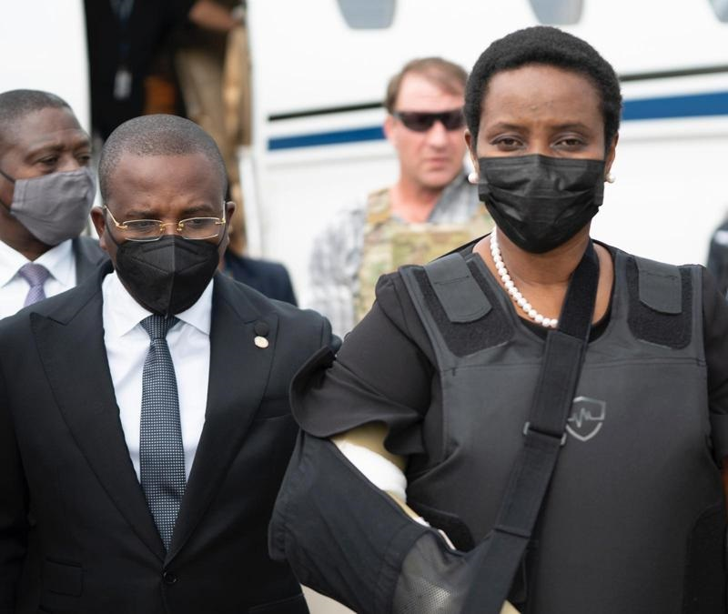 Martine Moise regresó a Haití para los funerales del presidente Jovenel Moise