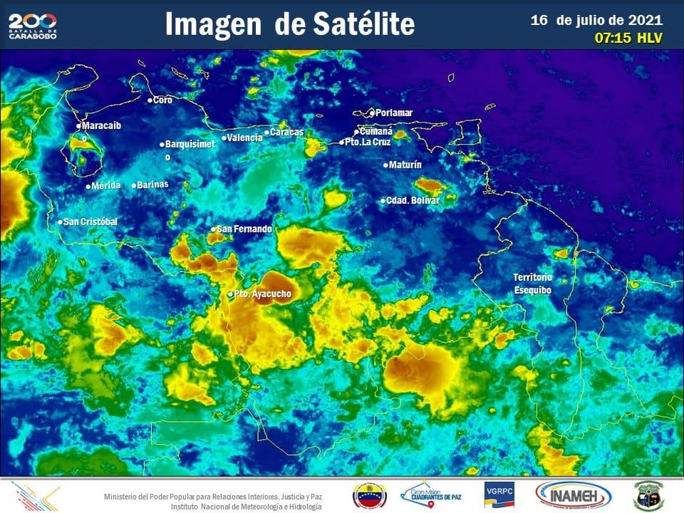 Inameh pronostica precipitaciones en gran parte del país