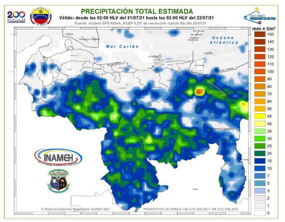 Inameh detectó concentraciones de polvo del Sahara al norte del país. No descarta lluvias