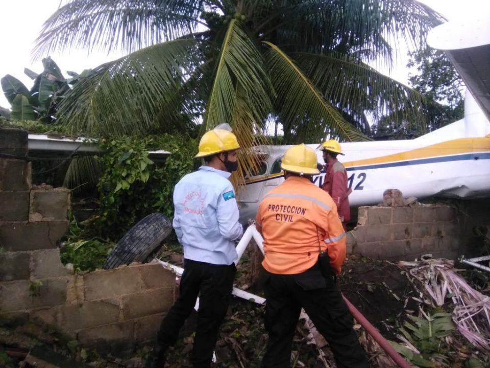 Avioneta cayó sobre el patio de una casa en Maturín