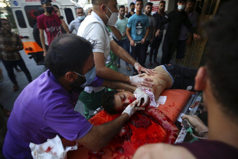Al menos 24 palestinos heridos por bombardeo de Israel