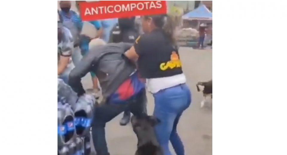 Detienen a mujer tachirense que agredir a un anciano por hurtar una compota